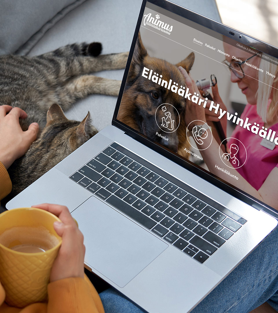 Nettisivut: eläinlääkäri Animus
