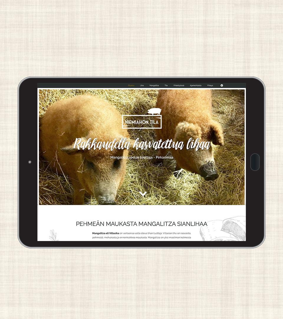 Niemiahontila - verkkosivut