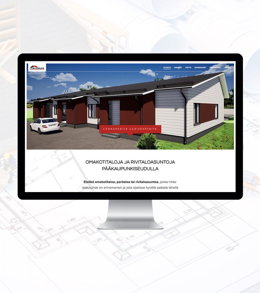 Rakennusyritys nettisivut